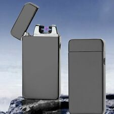 Hot! USB Electric Dual Metal Flameless Torch Rechargeable Windproof Lighter F0