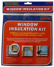 NEW WINDOW INSULATION KIT SHRINK FIT DOUBLE GLAZING FILM DRAUGHT EXCLUDER COLD