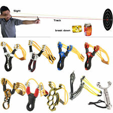 High Velocity Alloy Powerful Slingshot Hunting Catapult Outdoor Sling Shot Bow