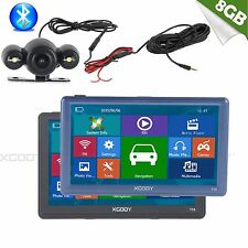 "XGODY 8GB FM SAT NAV 7""Car GPS Navigation Reversing View Backup Camera BT AV-IN"