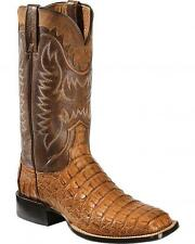 MENS LUCCHESE RHYS TAN CAIMAN HORNBACK WESTERN BOOT M4548