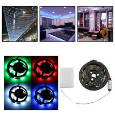WS68 12 RGB 5050 SMD Flexible 5V LED White Strip Lamps Light With Battery Box WG
