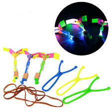 New Stylish 1or 2Pcs Flashing Slingshot Kid Toy LED Light Flying Arrow Catapult