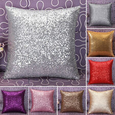 Solid Glitter Sequins Throw Pillow Case Lounge Cafe Decor Cushion Cover Home 40*