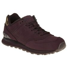 New Womens New Balance Maroon 574 Synthetic Trainers Retro Lace Up