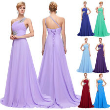 One Shoulder Sexy Long Evening Bridesmaid Dress Prom Formal Party Ball Gown 6~20