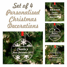 Tree Decorations - Personalised Christmas Acrylic Bauble Decorations
