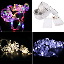40LED Ribbon Christmas String Light Decoration Xmas Wedding Bow Ornaments Lamp