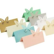 25 Wedding Party Flower Heart Butterfly Table Place Name Cards Blank Crafts