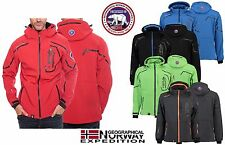 OFFICIAL CANADIAN PEAK BY GEOGRAPHICAL NORWAY MEN'S SOFTSHELL RAIN SPORTS JACKET