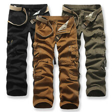 Mens Casual Military Army Cargo Camo Combat Work Pants Trousers Camouflage Pants
