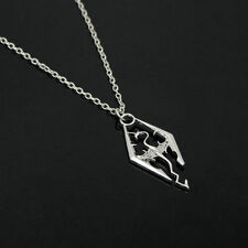 new Cool The Elder Scrolls Logo Skyrim Dragon Pendant Charm Chain Necklace gift