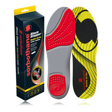 Sorbothane Mens Shock Stopper Red Double Strike Feet Impact Shock Insoles New