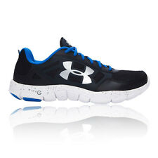 Under Armour Micro G Engage 2 Mens Black Running Road Sports Shoes Trainers