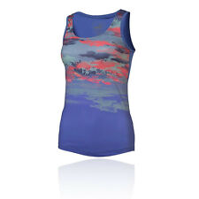 Puma Essential Graphic Layer Womens Blue Running Gym Vest Tank Top Singlet