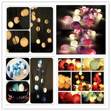 3M 20 Creative Cotton BALL String Light For Patio Balcony Xmas Feast Decoration