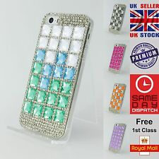 Luxury Multicoloured 3D Diamond Crystal Bling Hard Case Cover for iPhone 5/5s/SE