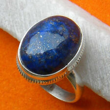 LAPIS LAZULI SOLID 925 STERLING SILVER HANDMADE NEW RING CUSTOM SIZE 5,6,7,8,9