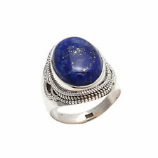 LAPIS LAZULI SOLID 925 STERLING SILVER NEW DESIGN RING CUSTOM SIZE 5,6,7,8,9,10
