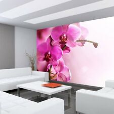 "Fleece Photo Wallpaper ""Pink Orchid"" ! Ornaments Orchid Flowers Tendril Ro"