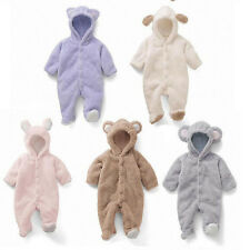 Newborn Baby Infant Boy Girl Romper Jumpsuit Bodysuit Hooded Clothes Outfit