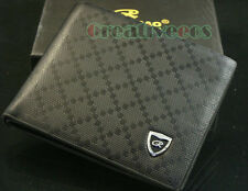 Men's PU Leather Rhombus Bifold Wallet Credit Card Holder Clutch Coin Purse New
