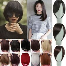 New Fashion Women Clip in Front Bang Fringe Straight Hair Extensions brown Tkc