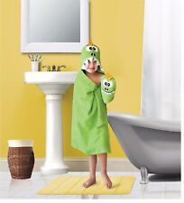 Kids' Hooded Bath Towel And Wash Mitt Set Assorted Characters Great For Use