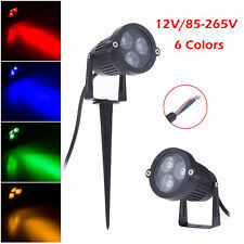 9W LED Outdoor Landscape Garden Wall Yard Path Pond Grass Flood Spot Light Lamp