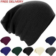 Unisex Ladies Men Knitted Winter Warm Ski Slouch Oversized Beanie Cap Hat New