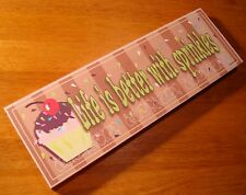 LIFE IS BETTER WITH SPRINKLES Bakery Cupcake Shop Kitchen Cake Baker Decor Sign