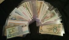 Uncirculated Lot of 24 Different Foreign PAPER MONEY BANKNOTES WORLD CURRENCY