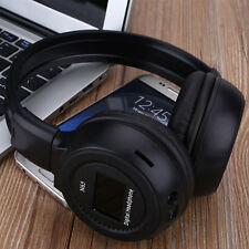 Bluetooth Stereo Foldable Headphone Headset Earphone MP3 TF Card Player FM LCD