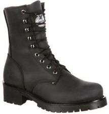 Georgia Men's Leather Lace Up Mid Calf Logger Work Boots Black GB00047
