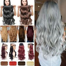 Double Thick 3/4 Full Head Weft Clip in Hair Extensions Real as Human Hair Tg9