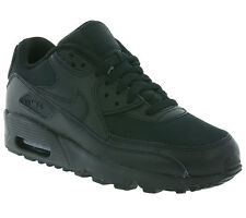 NEW NIKE Air Max 90 Mesh (GS) Shoes Children Trainers Black 833418001