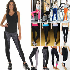 Womens Yoga Gym Fitness Leggings Running Jogging Stretch Sports Pants Trousers