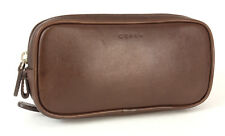 Authentic Vintage Coach Brown Leather  Make-up Case Pouch  2nd Bag Travel Bag