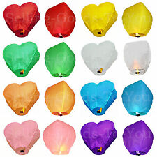 Chinese Normal Floating Sky Lanterns 9 Colours 10 Pack Weddings Party New Year