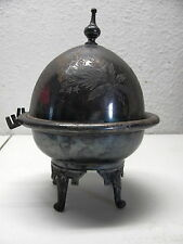 Antique Vintage Meriden B Company Silver Plate Footed Butter Dish 4926