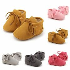 Baby Soft Sole suede/Leather Shoes Infant Boy Girl Toddler Moccasin