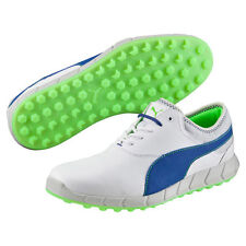 Puma Ignite Spikeless Golf Shoes 2016 White/Surf The Web/Gecko Green NEW 7929