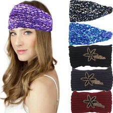 Fashion Womens Bohemia Winter Knitting Headband Handmade Warm Hairband Hair Band