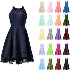 Stock Short Prom Formal Cocktail Party Evening Bridesmaid Dress Bridal Size 6-18