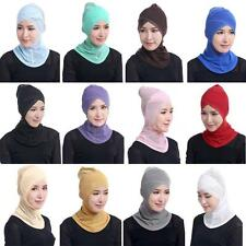 Islamic Scarf Hijab Cotton Stretchy Inner Cap Full Coverage Head Neck Cover G1O3