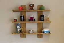 Wall Mounted Solid Wood Rustic Reclaimed 2/3/4 Shelf / Display Unit Shabby Chic