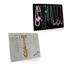 Necklace Jewelry Pendant Chain Show Display Holder Stand Neck Velvet Easel JS