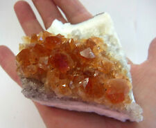 CITRINE CLUSTER STAND ALONE NATURAL CRYSTAL 230g 80mm Wealth Success FC99