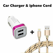 Sync / Charging Kit - USB Charge Cords + Car Chargers for iPhone7 6s 6 5s 5