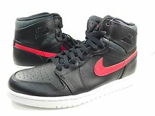 NEW Nike Air Jordan I 1 Retro High RARE AIR BLACK RED BRED 332550-012 sz 10.5